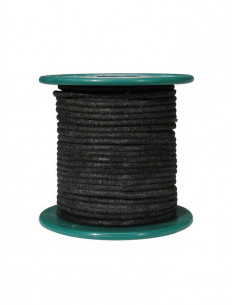 15 m black cloth covered wire