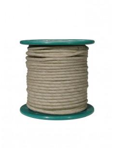 Cable 15 m recubierto en tela blanca