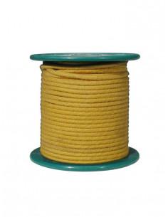 Cable 15 m recubierto en tela amarilla