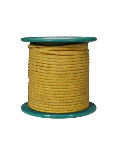 15 m yellow cloth covered wire