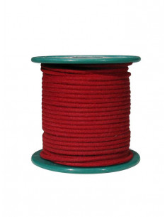 15 m red cloth covered wire