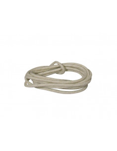 1 m white cloth covered wire