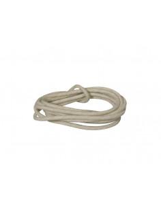 Cable 1 m recubierto en tela blanca