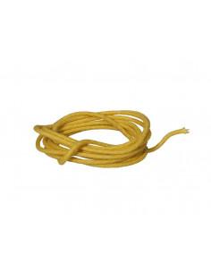 Cable 1 m recubierto en tela amarilla
