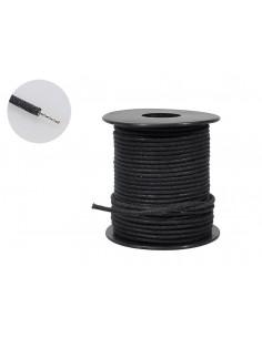 Cable con trenzado de algodón negro encerado de 50 pies