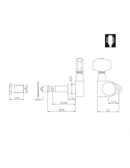 Ping Well® Machine Head 1271CS