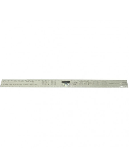 Luthier Straightedge ruler handle 90 cm.