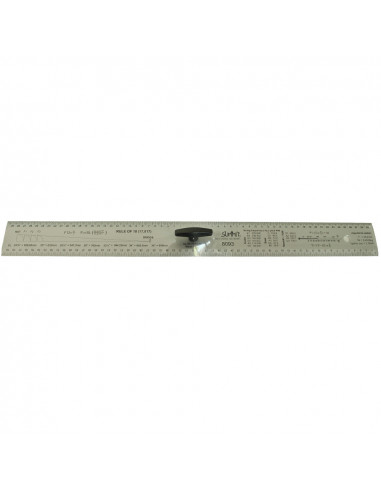 Luthier Straightedge ruler handle 60 cm.