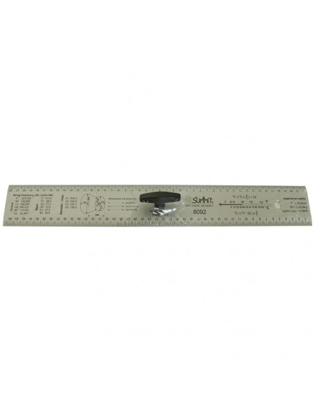 Luthier Straightedge ruler handle 45 cm.