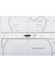 Luthier Straightedge ruler handle 30 cm.