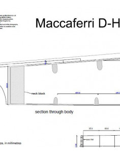 Maccaferri D-Hole Single Cut way Guitar Plan