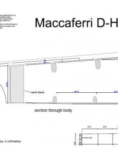 Plano Guitarra Maccaferri d- HoleSimple Cutway