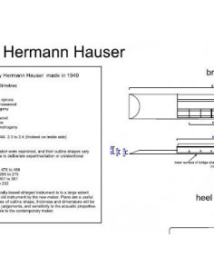 Hermann Hauser Classic Guitar Plan