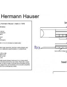 Plano Guitarra Clásica Hermann Hauser