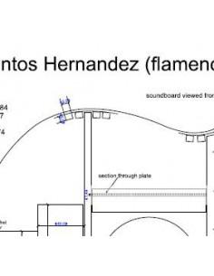 Plano Guitarra Flamenca Santos Hernandez