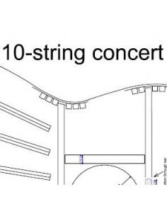 Plano Guitarra Concierto de 10 Cuerdas