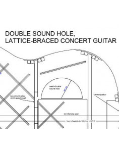 Lattice Braced Double Sound Hole Concert Guitar Plan