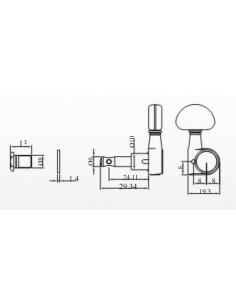 Clavijero Ping Well RM - 1042C-2 3+3