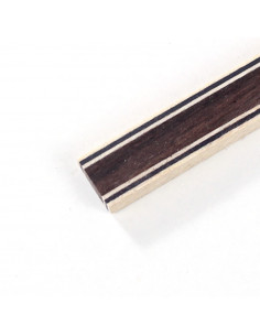 Back Strip Black White Black - Indian Rosewood - Black White Black