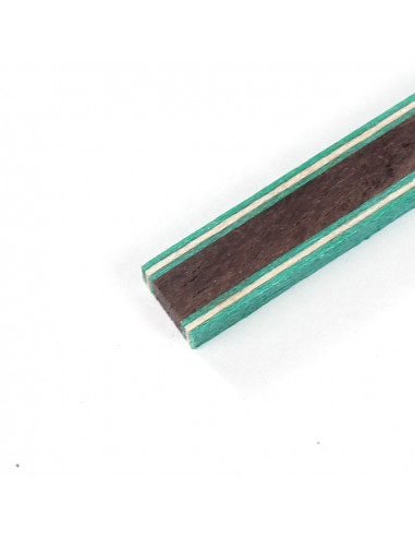 Green White Green - Indian Rosewood - Green White Green Joint Side