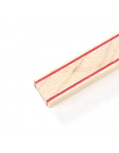 Back Strip White Red - Maple - White Red